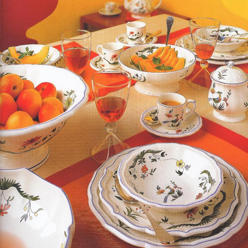 Ceramics Fayencerie Gien Oiseaux Paradis
