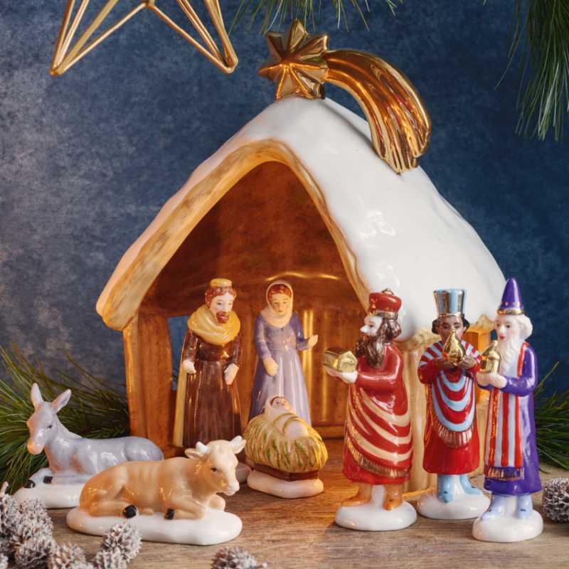 Hutschenreuther Weihnachtskrippe mit Krippenfiguren