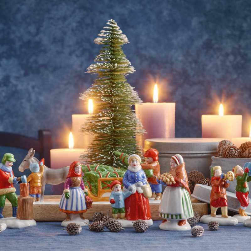 Hutschenreuther Figuren | Weihnachtsbäckerei und Weihnachtsmarkt