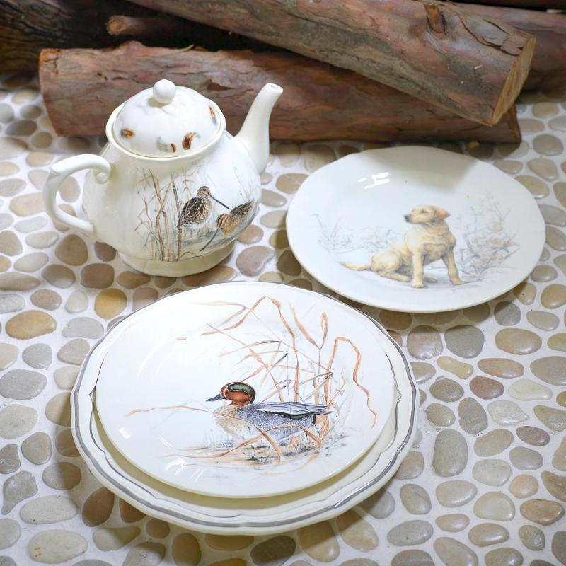 Керамическая посуда Солонь от Gien - Охотничьи мотивы