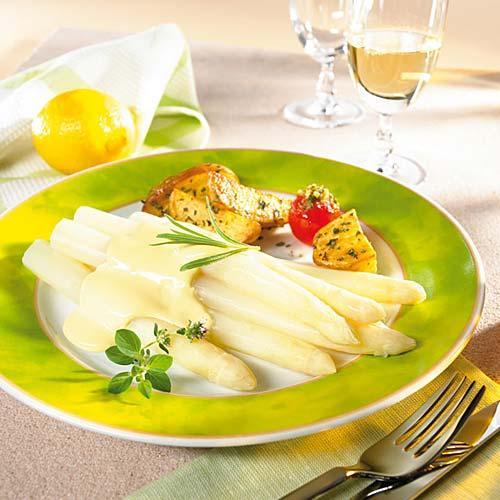 Prepare and serve asparagus