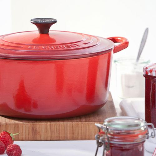Le Creuset Cast Iron Cherry Red