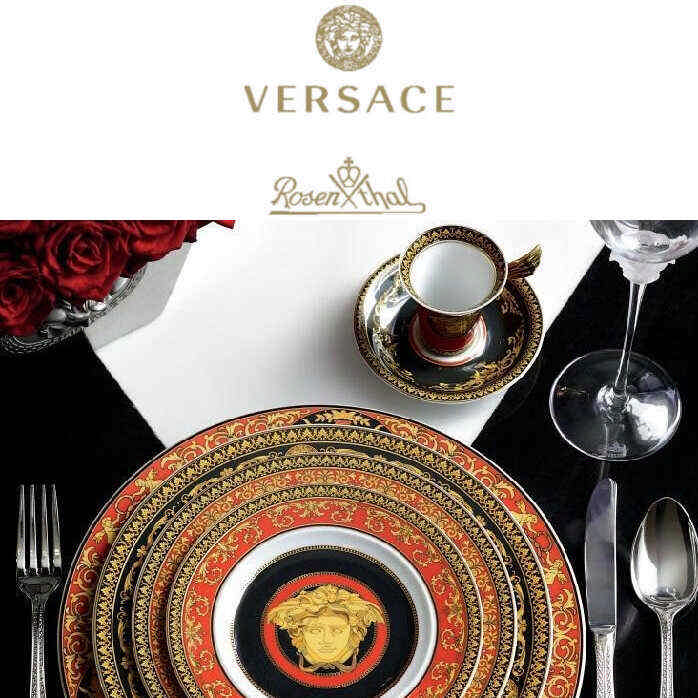 Rosenthal Versace Porcelain & Glass Sets