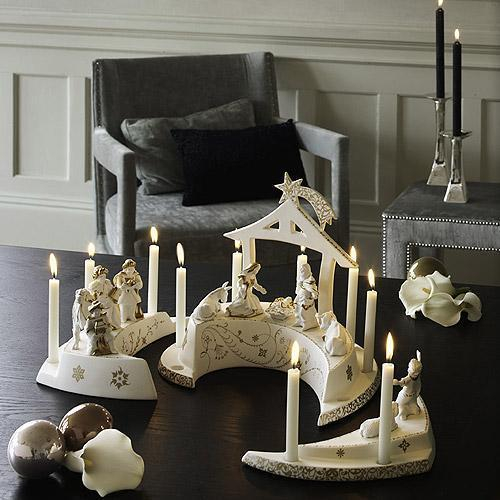 Christmas Candles and candle holders