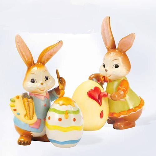 Easter porcelain figurines