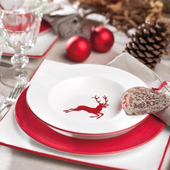 Gmundner Ceramics Wine Red Deer