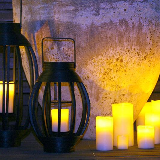 klein more fernbedienungsf hige led echtwachs indoor und. Black Bedroom Furniture Sets. Home Design Ideas