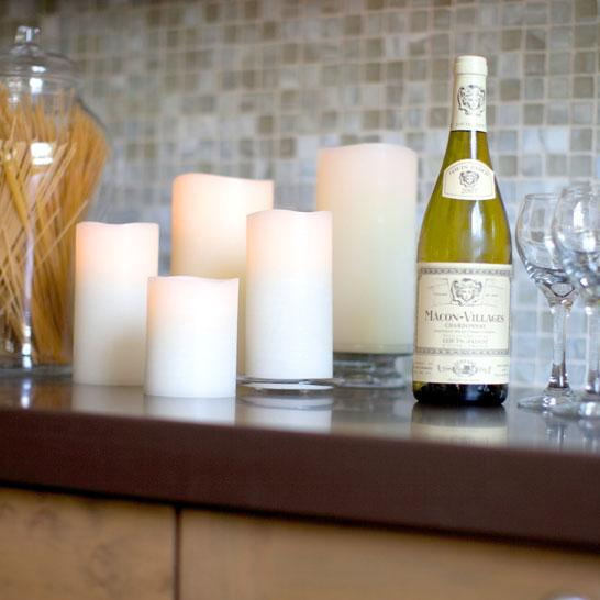 Klein & More remote capable LED Real Wax Indoor and LED Plastic Outdoor Candles by Liown