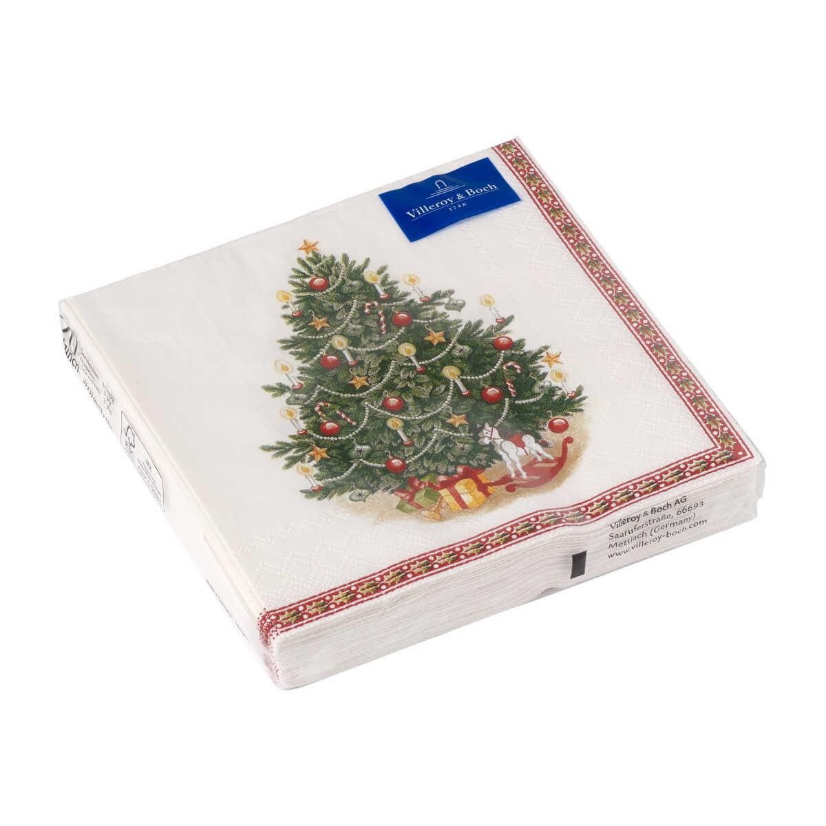 Villeroy & Boch Winter Specials Serviette Lunch 'Tannenbaum' 20 Stück 33x33 cm   Heimtextilien > Tischdecken und Co > Servietten   Villeroy & Boch