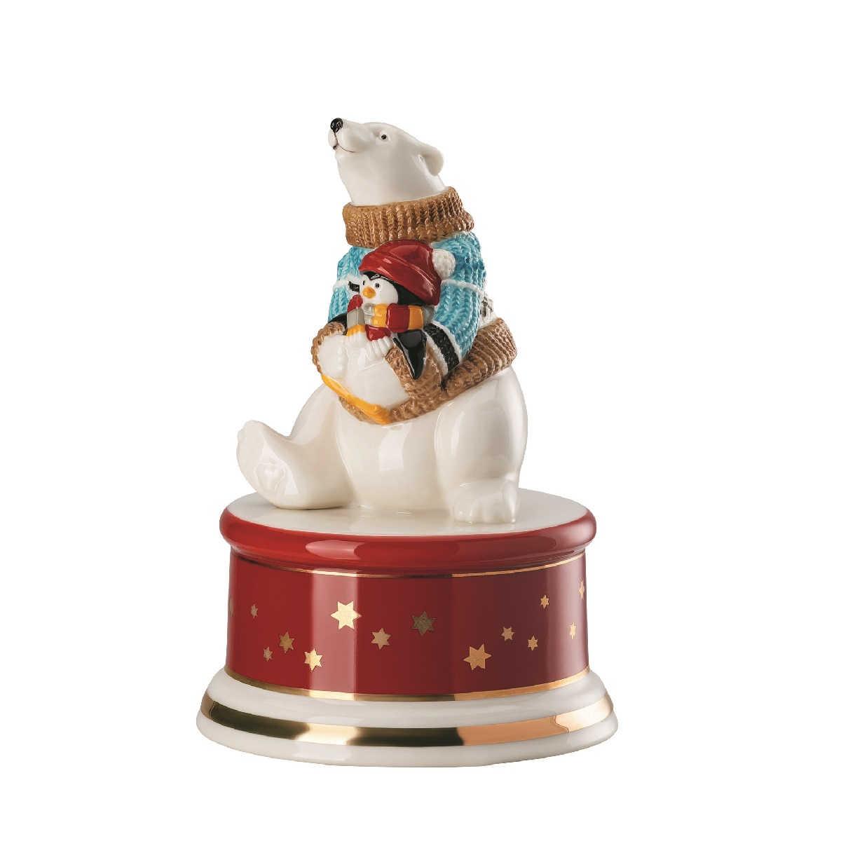 Hutschenreuther Sammelserie Weihnachtslied 2019 Spieluhr klein 'Schneeflöckchen, Weißröckchen' d: 9 cm / h: 13 cm | Kinderzimmer > Spielzeuge > Spieluhren | Hutschenreuther