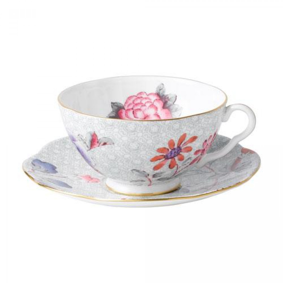Elegante Teetasse aus dem Teeservice Harlequin Collection Cuckoo von Wedgwood