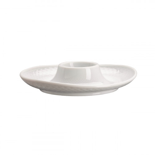 Rosenthal Selection Junto Weiß - Porzellan Eierbecher mit Ablage 13 cm