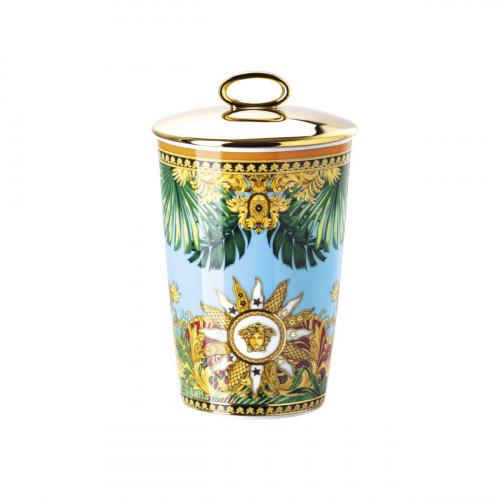 Rosenthal Versace Jungle Animalier Tischlicht mit Deckel und Duftwachs h: 14 cm / d: 8,5 cm