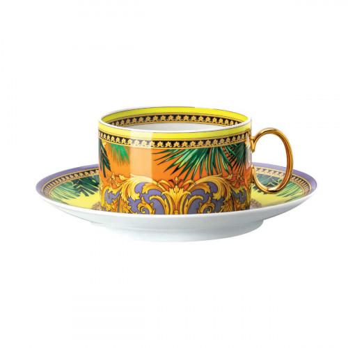Rosenthal Versace Jungle Animalier Teeobertasse 0,20 L mit Teeuntertasse 14,5 cm 2-tlg.