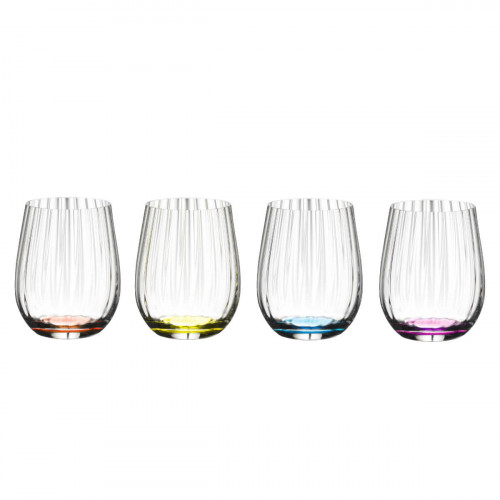 Riedel Gläser Tumbler Kollektion Happy O Optik Glas Set 4-tlg. h: 96 mm / 344 ml