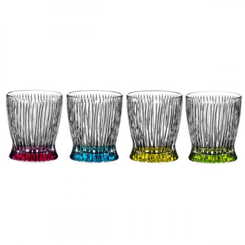 Riedel Gläser Tumbler Kollektion Fire & Ice Whisky Glas Set 4-tlg. h: 98 mm / 295 ml