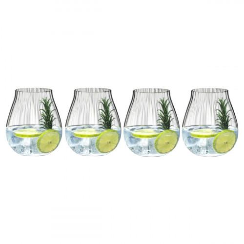 Riedel Gläser Tumbler Kollektion Optik O Gin Glas Set 4-tlg. h: 124 mm / 762 ml