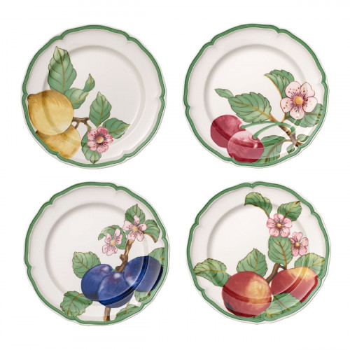 Villeroy & Boch French Garden Modern Fruits Speiseteller Set 4-tlg.