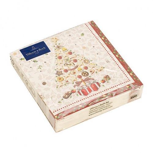 Villeroy & Boch Winter Specials Serviette Lunch - Bakery ´Weihnachtsbaum´ 20 Stück 33x33 cm