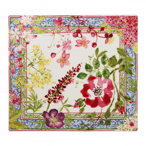 Gien 'Millefleurs' Platte recheckig 29,5 x 26,5 cm