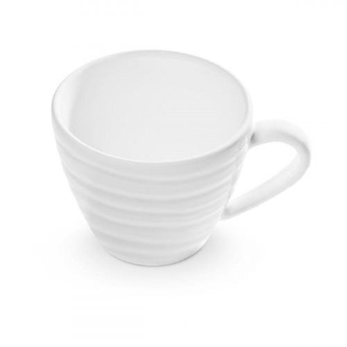 Gmundner Keramik Weißgeflammt Kaffeeobertasse Gourmet 0,2 L / h: 7,5 cm