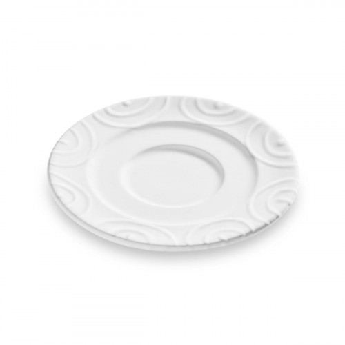 Gmundner Keramik Weißgeflammt Kaffeeuntertasse Gourmet d: 16 cm