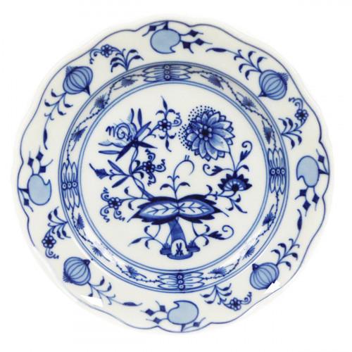 Meissen Zwiebelmuster kobaltblau - weißer Rand Teller 14 cm