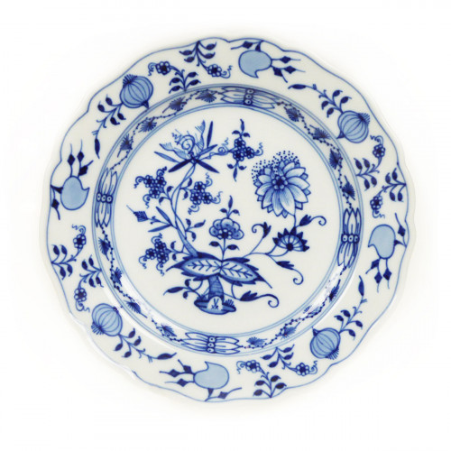 Meissen Zwiebelmuster kobaltblau - weißer Rand Teller 18 cm