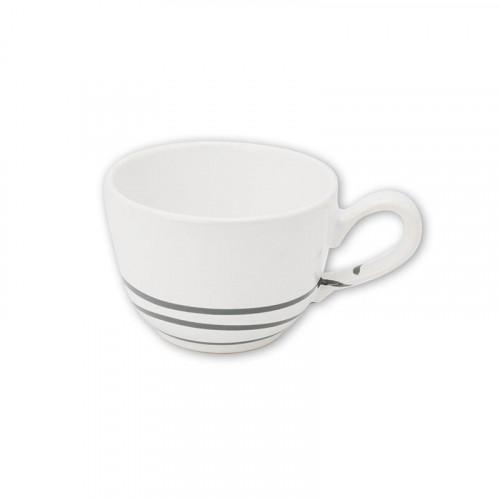 Gmundner Keramik Pur Geflammt Grau Kaffee-Obertasse glatt 0,19 L / h: 6,6 cm