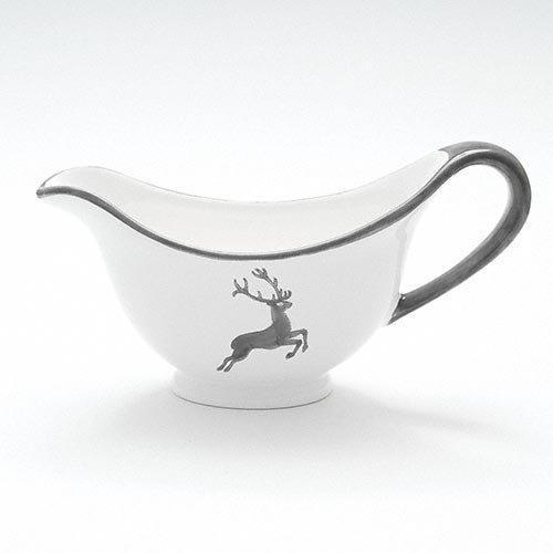 Gmundner Keramik Grauer Hirsch Sauciere Gourmet 0,2 L / h: 10 cm