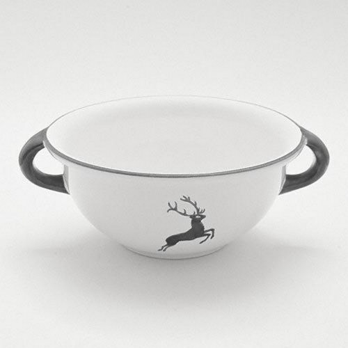 Gmundner Keramik Grauer Hirsch Weitling d: 25 cm / 2,0 L