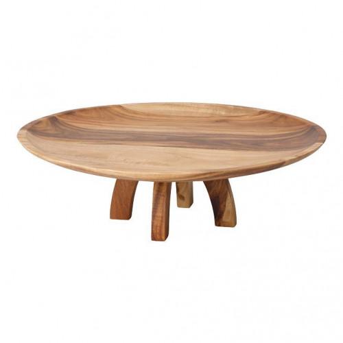 Villeroy & Boch Artesano Original Platte auf Fuß Holz 32,6x10,5 cm