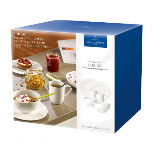 Villeroy & Boch For Me weiss Frühstücks-Set 2 Personen 6-tlg.