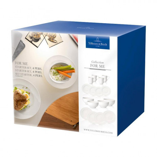 Villeroy & Boch For Me weiss Starter-Set 4 Personen 16-tlg.