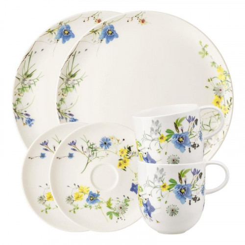 Rosenthal Selection Brillance Fleurs des Alpes Frühstück-Set für 2 Personen 6-tlg.