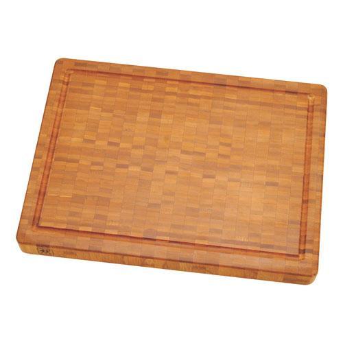 Zwilling Messerzubehör Schneidbrett Bambus Holz groß 420 x 40 x 310 mm