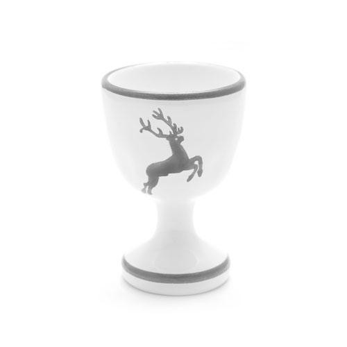 Gmundner Keramik Grauer Hirsch Eierbecher glatt d: 4,9 cm / h: 7,5 cm