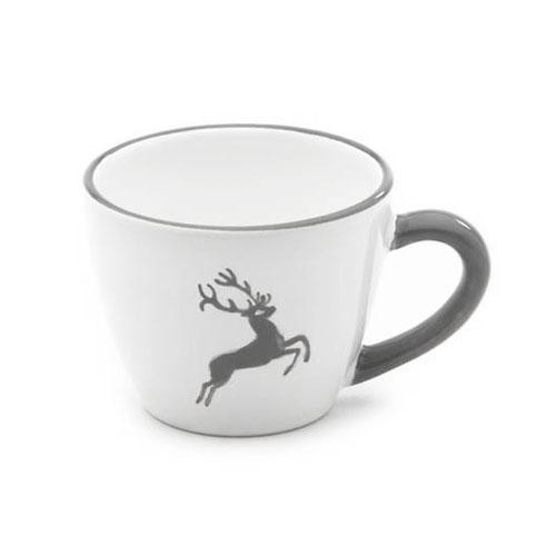 Gmundner Keramik Grauer Hirsch Mokka-/Espresso-Obertasse Gourmet 0,06 L / h: 5,1 cm