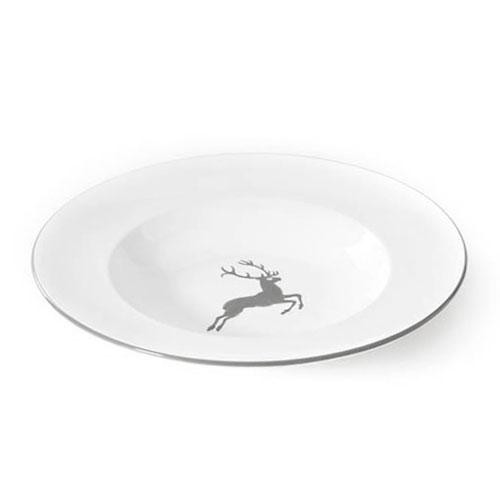 Gmundner Keramik Grauer Hirsch Pastateller Gourmet d: 29 cm / h: 4,5 cm