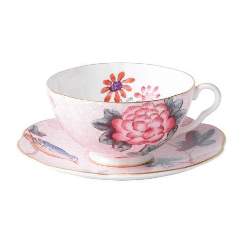 Wedgwood  'Harlequin Collection Cuckoo' Teetasse Rosa 0,18 L 2-tlg. set (Ober- und Untertasse)