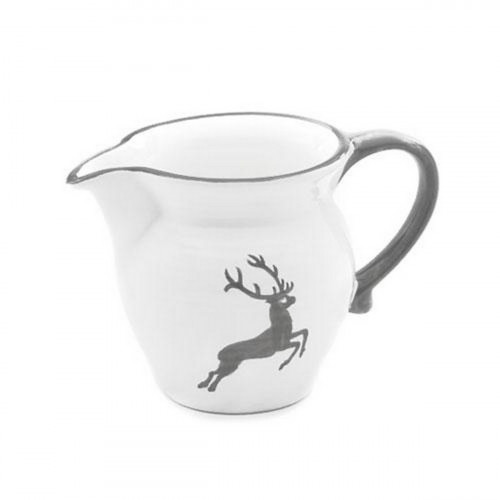Gmundner Keramik Grauer Hirsch Milchgießer glatt 0,5 L / h: 10,8 cm