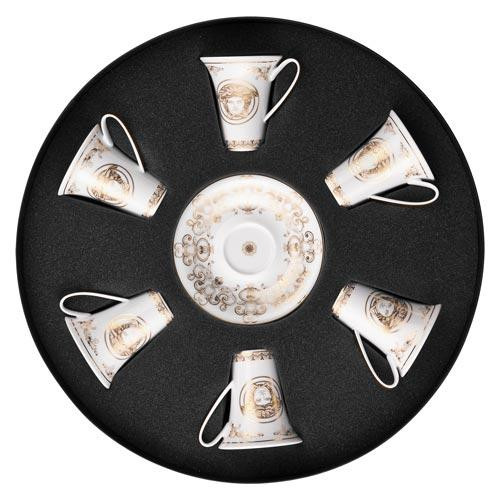 Rosenthal Versace Medusa Gala Set 6 Espresso-/Mokkatassen 0,09 L
