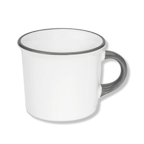 Gmundner Keramik Grauer Rand Kaffeebecher Classic 0,24 L