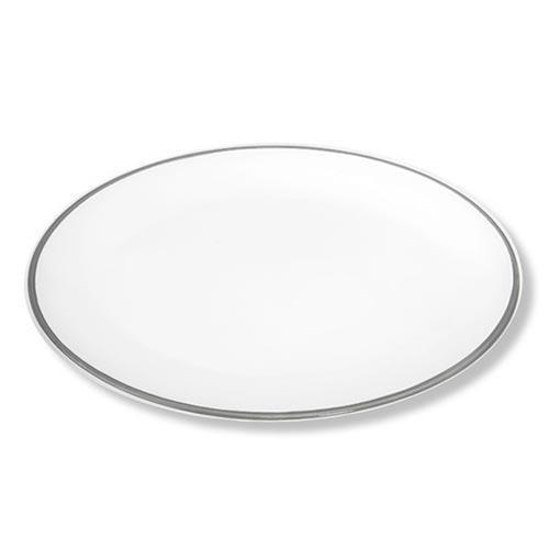 Gmundner Keramik Grauer Rand Platte oval 33x26 cm