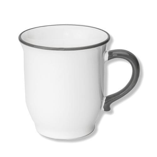 Gmundner Keramik Grauer Rand Schokotasse Classic 0,3 L