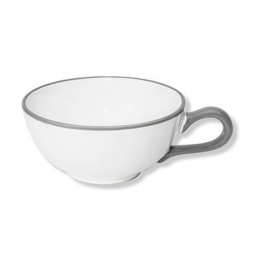 Gmundner Keramik Grauer Rand Tee-Obertasse Classic 0,17 L