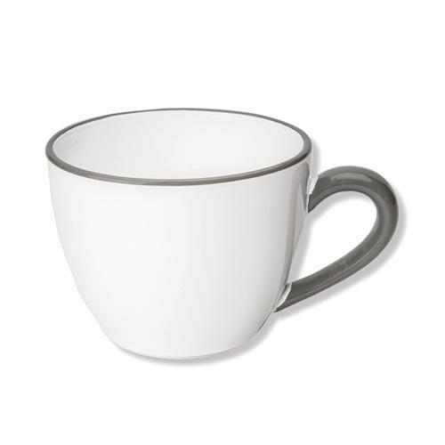 Gmundner Keramik Grauer Rand Tee-Obertasse Maxima Gourmet 0,4 L