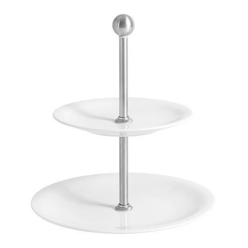 Kahla Update weiss - Belle Etage Etagere Mini 2-tlg. Oberer Teller 16 cm / Unterer Teller 21,5 cm