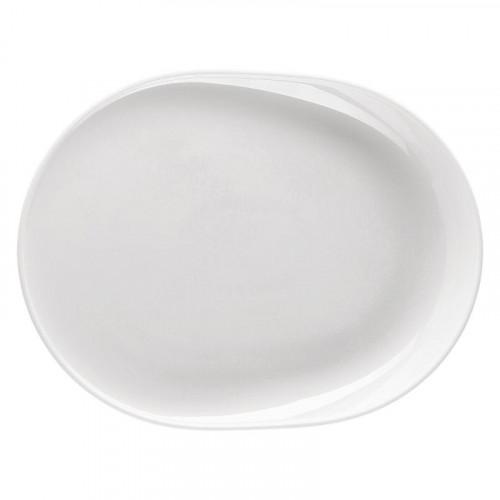 Thomas ONO weiss BBQ-Teller oval / Grillteller / Gourmetteller 34 x 26 cm