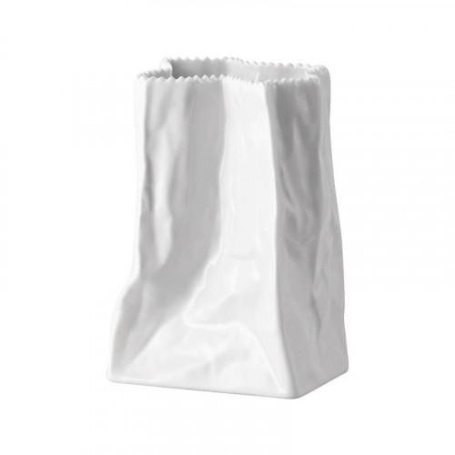 Rosenthal Studio-line Tütenvasen Vase Weiß glasiert im Geschenkkarton 14 cm